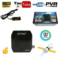 SKYSAT V9 Plus DVB-S2 Receiver support CS WiFi 3G Youtube Full HD MPEG-4 player