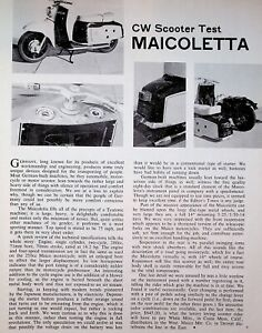 1963 Maicoletta Scooter - 1-Page Vintage Maico Motorcycle Test Article