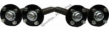 2 paires Moyeu et demi-essieu pour remorque de quad 100mm Entraxe 4 trous 40x40m
