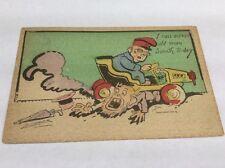 Vintage Paper Ephemera, Postcard, 1908, Funny Comic, Ran Across Old Man Smith