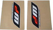 FLU DESIGNS - WP FORK GRAPHICS DECALS STICKERS KTM SXF350 350 SXF   CLR/ORA/BLK