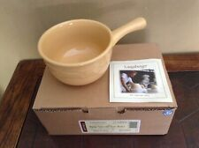 Longaberger Woven Traditions Butternut 16 Ounce Soup-Chili Bowl Nib Reduced