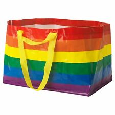 IKEA Rainbow Bag Reusable Shopping Storage STORSTOMMA LGBTQ+ KVANTING Gay Pride