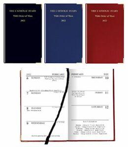 Catholic Diary 2022 Balcron Cover Order Mass 2022 Gold Edges Xmas Present Maroon
