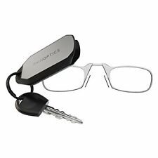 ThinOPTICS Keychain Reading Glasses, Clear Frame, 2.00 Strength