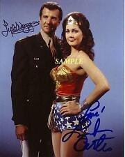 LYNDA CARTER LYLE WAGGONER REPRINT AUTOGRAPHED SIGNED PICTURE PHOTO WONDER WOMAN