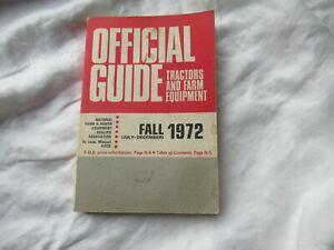 1972 Official tractor guide Nebraska test John Deere 4020 Oliver Ford MF Farmall