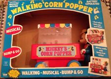Illco USA Walt Disney MICKEY MOUSE WALKING CORN POPPER Car Batt. Op. MIB`80 RARE