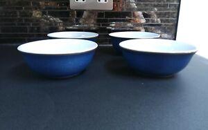4 x Denby Imperial Blue bowls  14.5cm dia