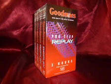 4 x GOODMANS PRO E180 VHS CASSETTE VIDEO TAPE Sealed 3hrs/6EP FREE & FAST POST!