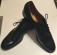STETSON Old Masters Vintage Black Plain Toe Dress Shoes-Never Worn! 15 1/2 3 A/A