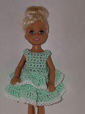 Handmade Chelse/Kelly mattel doll clothes - Mint Green