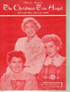 Christmas Tree Angel 1950 Andrews Sisters Sheet Music
