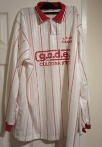 Funky Vintage Long Sleeved Football Shirt Size XL Made In Italy