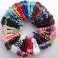 Warm Women Real Rabbit Fur Hand Wrist Warmer Fingerless Winter Gloves 2018