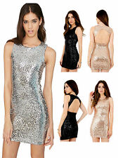 Sequin Stretch, Bodycon Party Sleeveless Dresses for Women