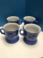 """Lot 4 Currier and Ives """"Old Homestead in Winter"""" Mugs/Cups Set Made In Japan"""