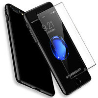 Thin Hybrid Tempered Glass Film+Acrylic Hard Full Case Cover for iPhone 7/6 Plus