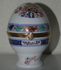 Raynaud - Petite boîte en forme d'œuf en porcelaine de Limoges, modèle Koutani