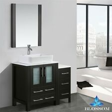 "Blossom 30"" Sydney Single Sink Bathroom Vanity With Vessel Sink Espresso Color"