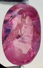 Saphir rose facetté de Tanzanie 1,38ct faceted pink unheated sapphire tanzania