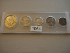 1964 U.S.  5 COINSET  IN HOLDER ALL P MINT      (64-2)