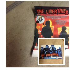 RARE CD lp PROMO Poster 17x11 The LIBERTINES 2 sided poster music OOP