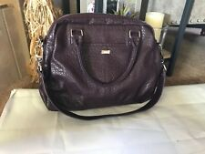 31 JEWELL THIRTY-ONE LARGE  SATCHEL PURSE PURPLE Pebble BAG