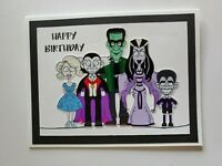 THE MUNSTERS HAPPY BIRTHDAY GREETING CARD