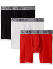 NWT Under Armour. Sz L. 3 Pack. Cotton Stretch Boxer Jock. Multi-Co. MSPR $40.00