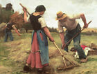 Haymaking Julien Dupre Fine Art  Print on Canvas Painting Giclee Repro Small