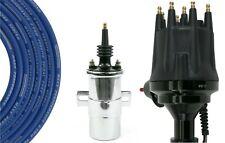 Billet Distributor Ceramic 8.5mm Spark Plug Wires Coil Ford 351C 400 429 460 V8