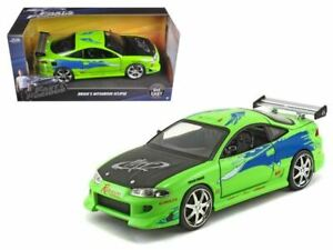 1:24 Brian's Mitsubishi Eclipse Green -- Fast & Furious JADA