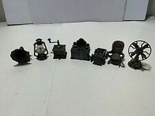 Vintage MIXED LOT 7 PIECE DURHAM Die Cast Metal Pencil Sharpeners & Miniatures