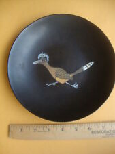 Vintage 1950's-60's Couroc Giftware: Decorative round plastic tray bowl w/ inlay