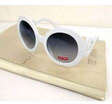 Lady Gaga Balrog Style Fashion Baroque Paparazzi Round Shape Sunglass - White