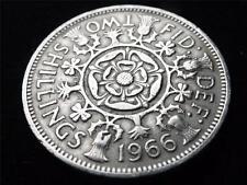 1966 ELIZABETH II FLORIN / TWO SHILLING COIN