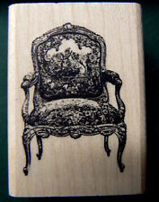 """Victorian chair rubber stamp 2.75x2"""" P9"""