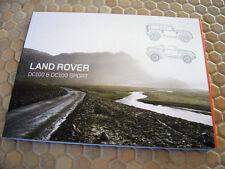 LAND ROVER CONVERTIBLE DC100 DC100 SPORT CONCEPT BROCHURE DATA DVD BROCHURE 2012