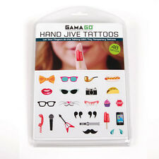 Gama-Go Hand Jive Temporary Tattoos - Let Your Fingers Do The Talking