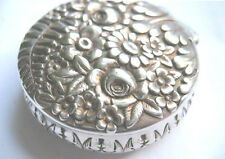 Vintage Tiffany & Co Sterling Silver Floral Decorative Pill Box Fancy 47.8 gr