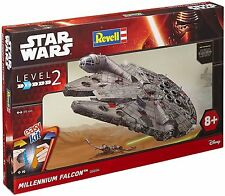 Revell Star Wars EasyKit,Level 2,Force Awakens,Millennium Falcon.1:72.SHELF WEAR