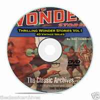 Thrilling Wonder Stories, Vol 1, 43 Vintage Pulp Magazine, Fiction DVD CD C59