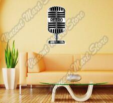 "Radio Microphone Karaoke Retro Music Wall Sticker Room Interior Decor 16""X25"""