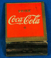 Drink Coca-Cola Matchbook Matches Delicious Refreshing Glass Bottle Ad VTG