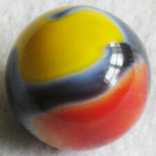"Vitro Agate Marble Yellow Jacket Dark Blue Marbles 7/8"" Shooter NrMINT+"
