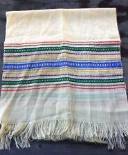 Vintage Midcentury Handloomed Scandinavian Wool Blend Scarf