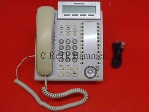 Panasonic KX-DT333 Systemtelefon Telefon weiß Re_MwSt KX DT333 KXDT B-Ware 333