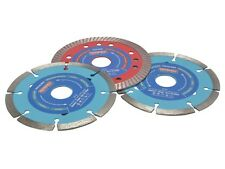 "115mm (4.1 / 2 "") Lama di diamante-selezione DISC PACK / Set - 3 Lame"