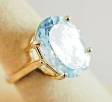 14 kt Gold Ring with Blue Topaz
